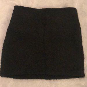 Alice + Olivia black wool mini skirt